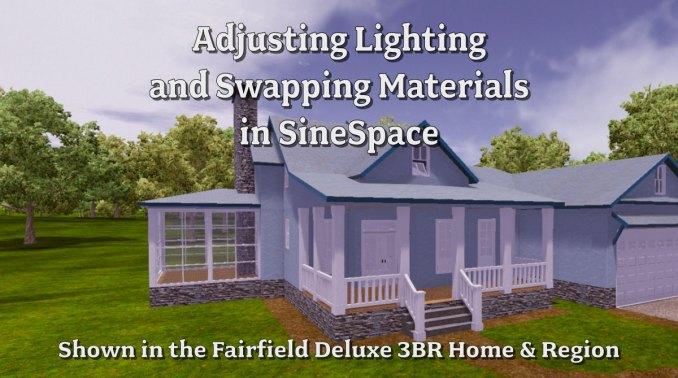 Adjusting Lighting and Materials