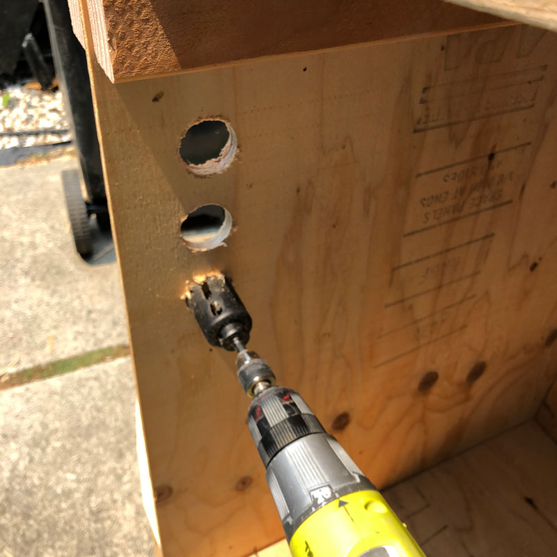 Drilling Holes For Airflow