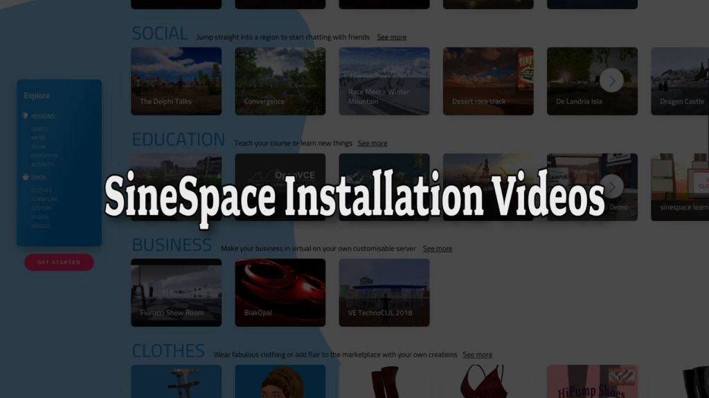 SineSpace Installation Videos