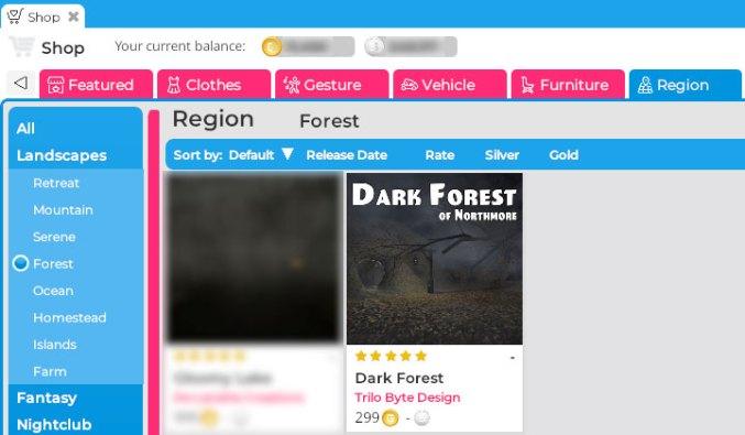 Dark Forest Shop Listing