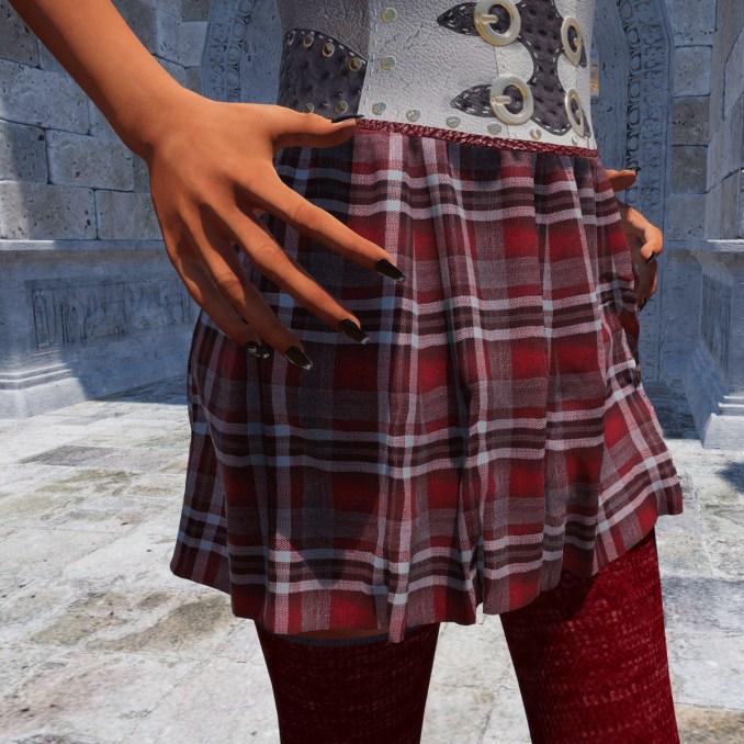 Darla Skirt in red