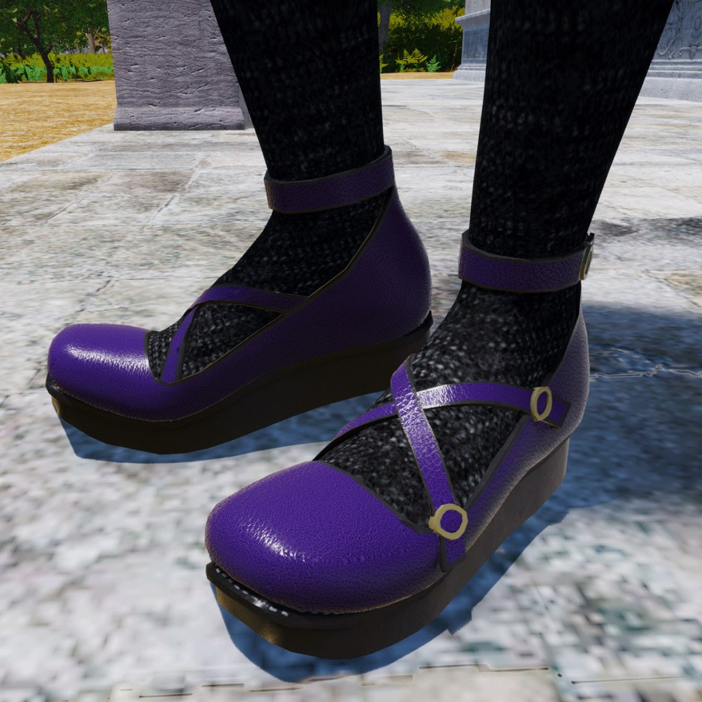 Rascal Platform Shoes in Purple