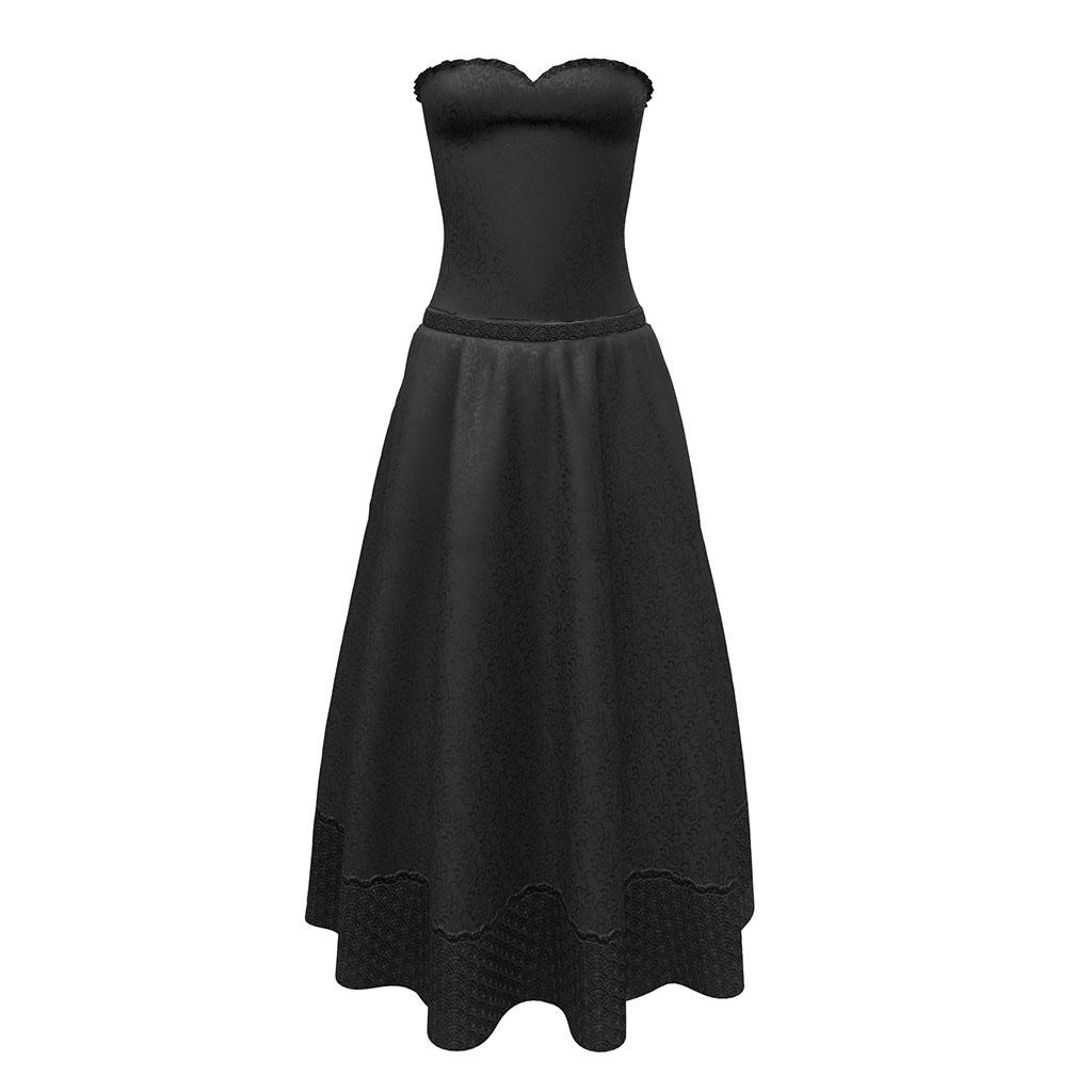 Allegro Gown in Black Silk