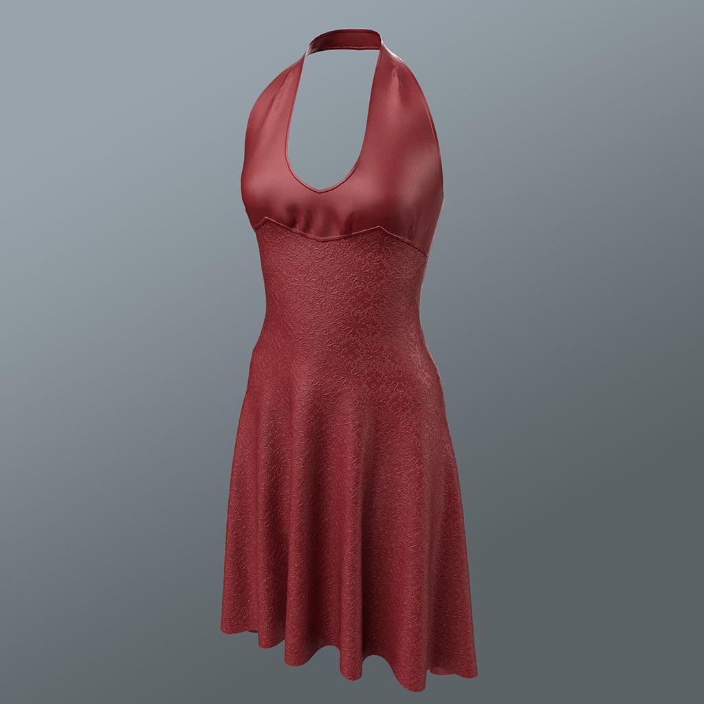 Gwen Halter Dress in Red
