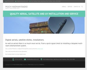 Screenshot of Much Hadham Radio website