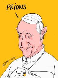 Le Pape François 2 à Pâques dimanche 12 avril 2020