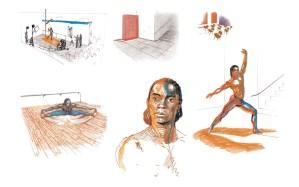 Gene Anthony Ray, Purgatorio, disegni, Dancing on the verge - On the verge un imponente progetto artistico di Marco Papa