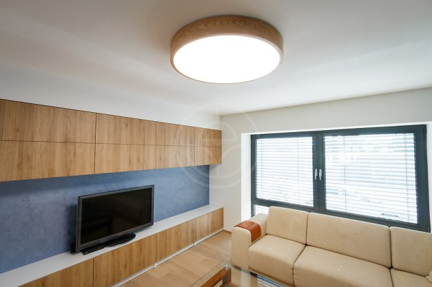 Trilum's woodLED ROUND house installation - living room lighting