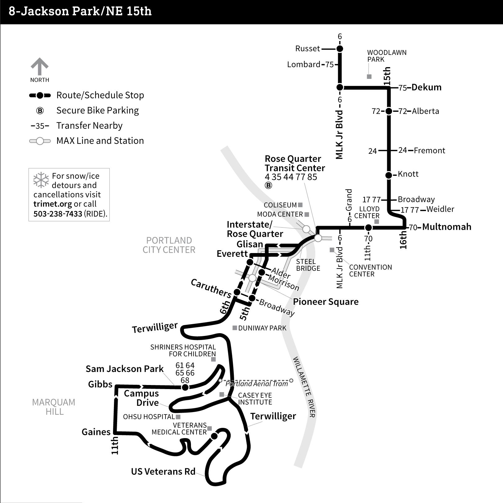 Portland Max Schedule