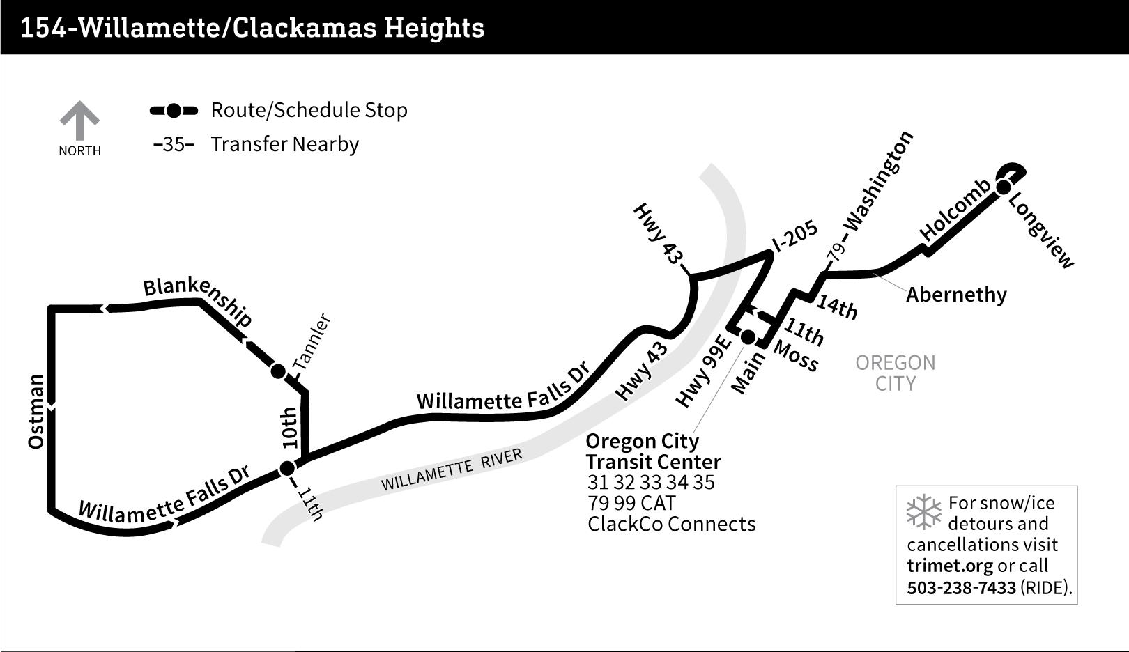 Line 154 Willamette Clackamas Heights