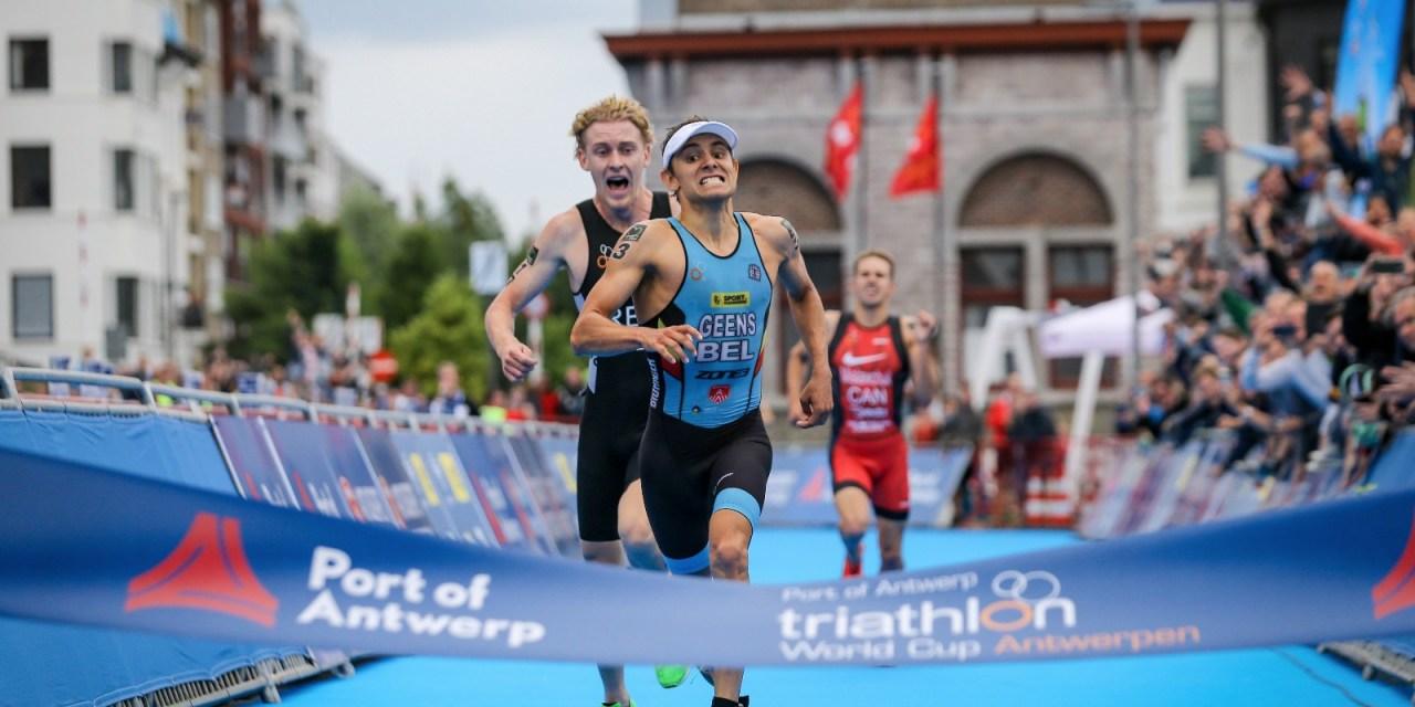 Resultados en la Copa del Mundo de Triatlón de Amberes, Bélgica.