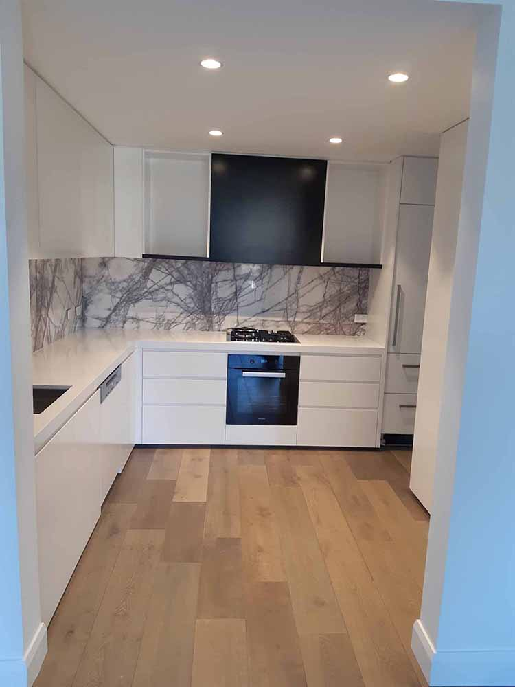 Kitchen with the New York Marble Splash