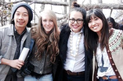 Gino, Lauren, Laura and Kana, respectively.