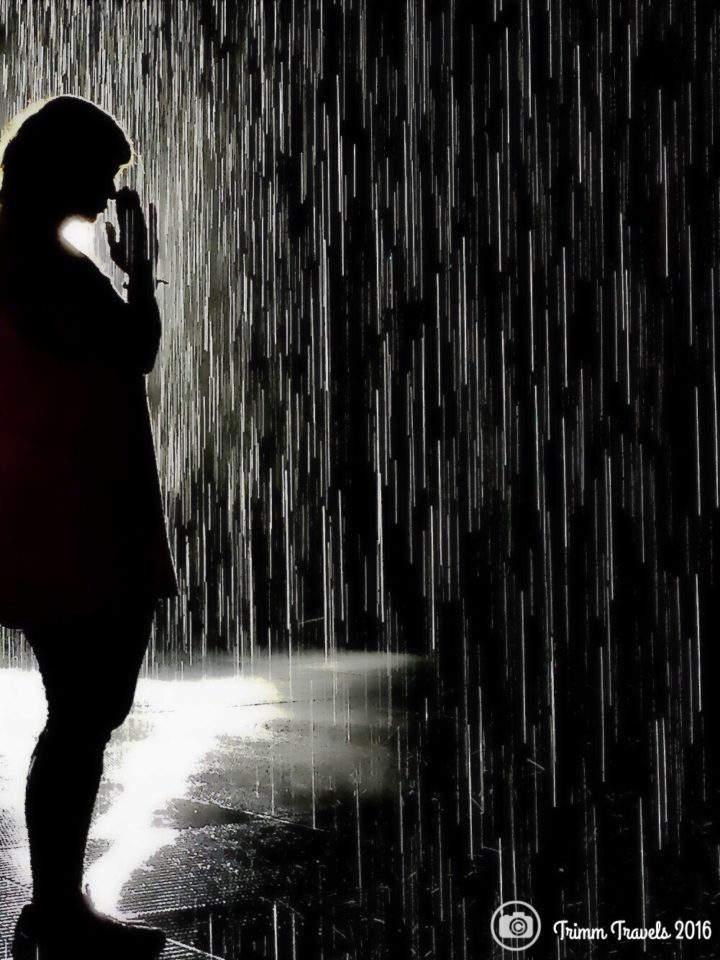 LA California LACMA Rain Room Me