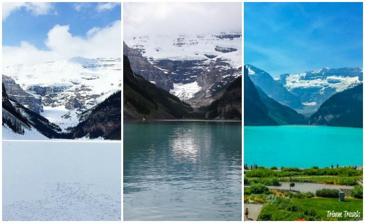 Lake Louise Banff Tri Photo Comparison