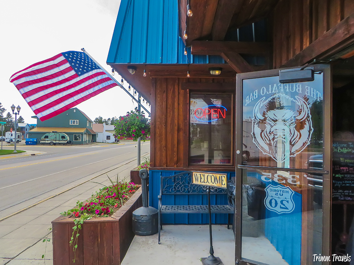 Yellowstone Places Eat Buffalo Bar Exterior View