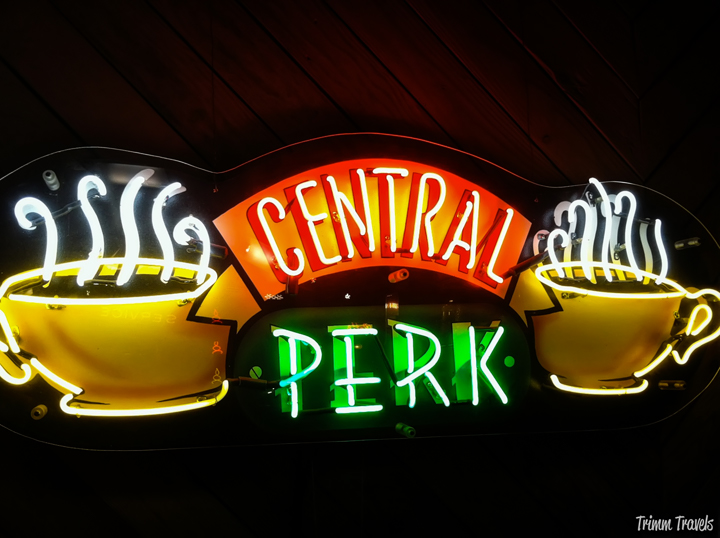 Warner Brothers Studios Central Perk Sign from TV show Friends Burbank Los Angeles California