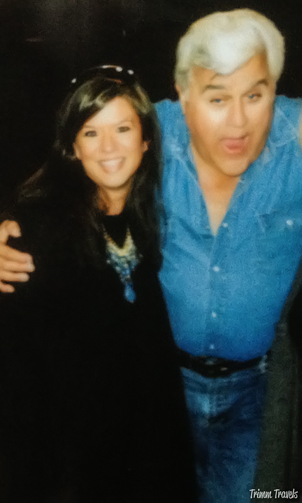 Me with Jay Leno onstage before The Tonight Show Burbank Los Angeles California