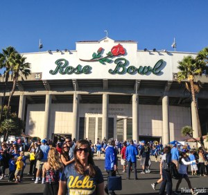 Me outside of the Rose Bowl Pasadena Los Angeles California