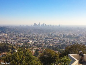 another shot overlooking downtown from Griffith Observatory Los Angeles California