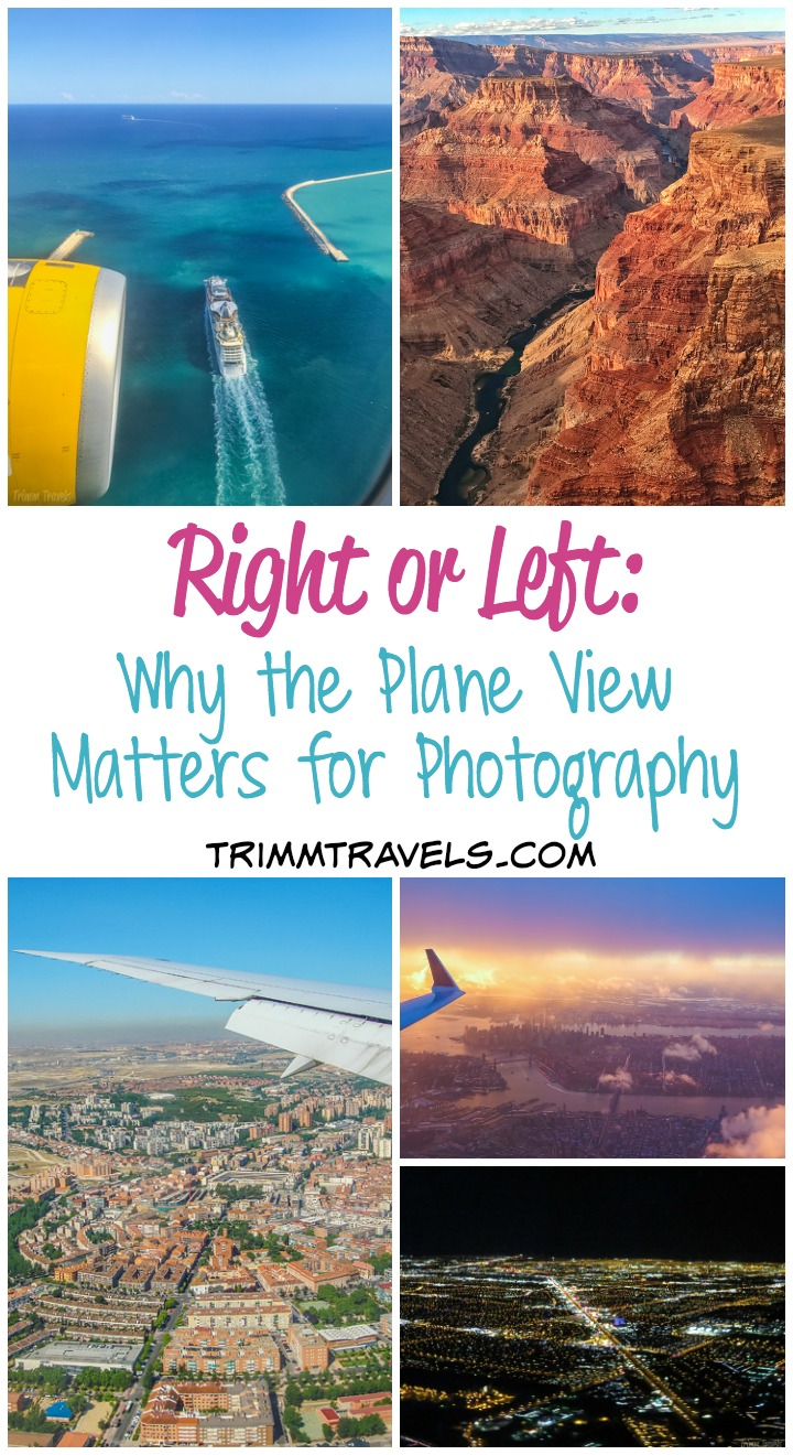 Ever wonder if there's a way to know which side to sit on to get THAT shot? Here's what gives you the best chance and why the plane view matters for photos! #flight #photography #tips