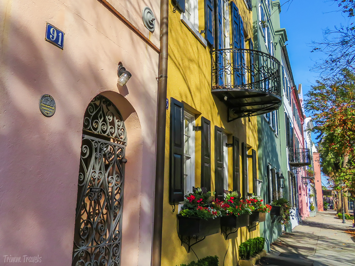 Rainbown Row in Charleston South Carolina