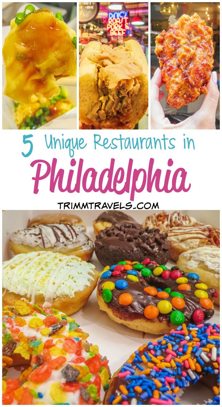 blog post title collage 5 unique restaurants in philadelphia