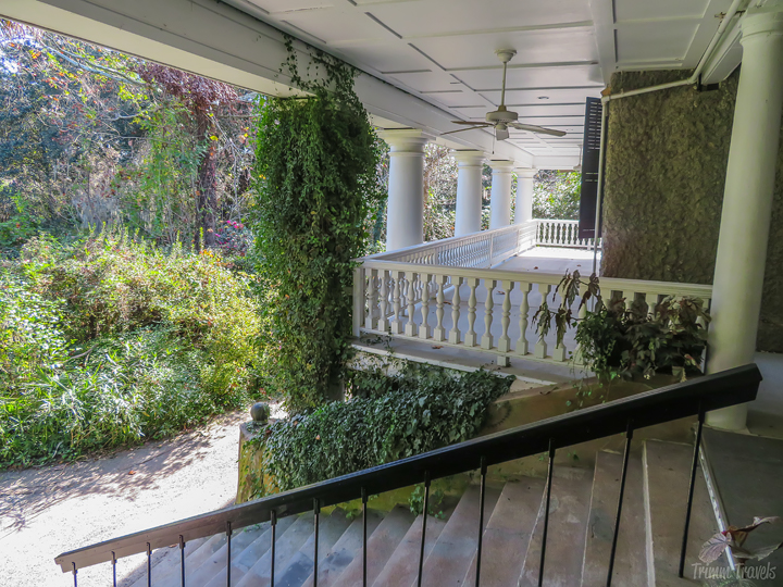 back wrap around porch of Magnolia Gardens Charleston