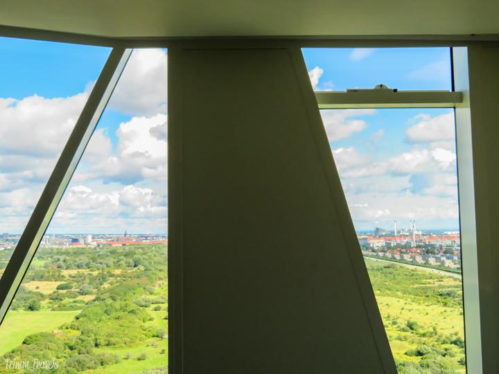 view of Copenhagen from hotel room in daytime