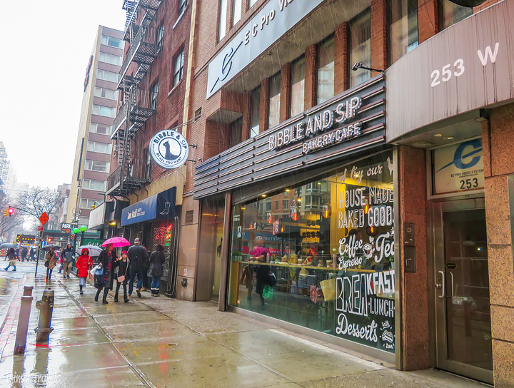 exterior of Bibble and Sip in New York City