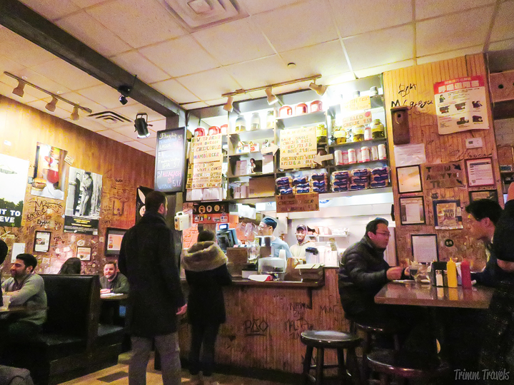 interior of Burger Joint in New York City