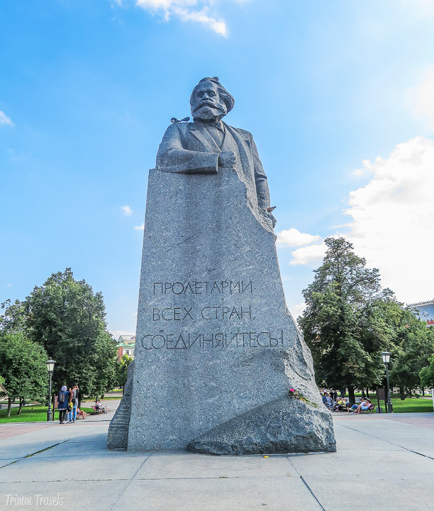 Karl Marx Monument Moscow Russia