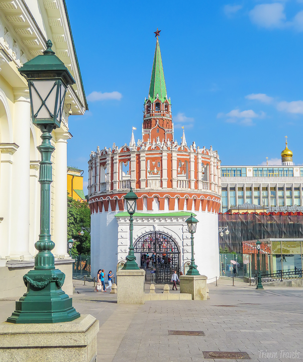 main entrance to the Kremlin Moscow Russia