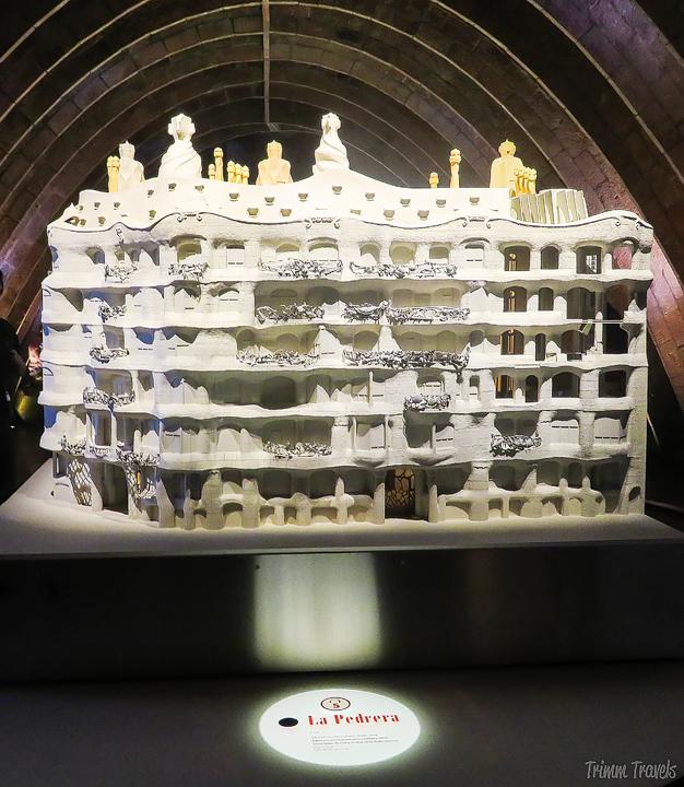 model of La Pedrera in La Pedrera A Gaudi Barcelona Tour