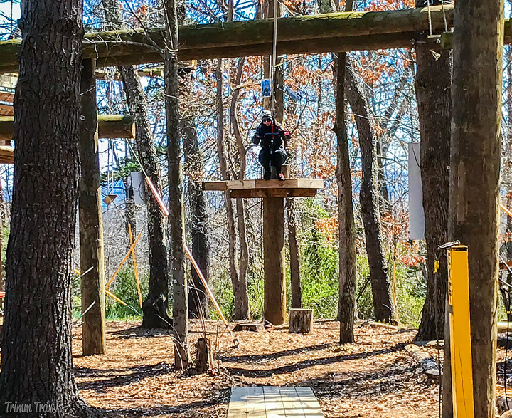 getting ready to do a little Exit Zip off the challenge course