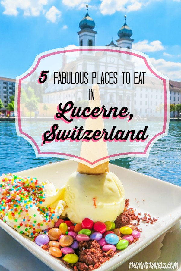 Eating your way through Lucerne, Switzerland is a must! Check out these five fabulous places for a complete food tour when you visit Lucerne! #lucerne #switzerland #food #foodie #restaurants #placestoeat #eat #europe #travel