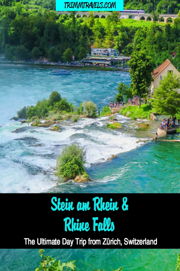 Don't miss the medieval town of Stein am Rhein and Rhine Falls-the largest plain waterfall in Europe! See how to do both-the ultimate day trip from Zurich! #zurich #steinamrhein #rhinefalls #switzerland #europe #waterfalls #activities #destinations #travel