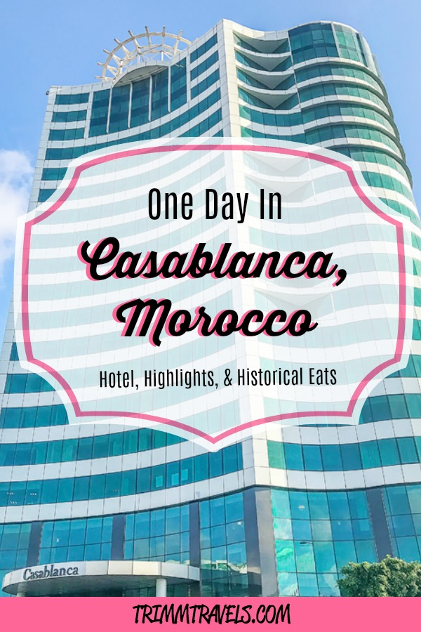 Are you thinking about visiting Casablanca but don't have much time and aren't sure what to do? That's okay because one day in Casablanca is all you need! #casablanca #morocco #africa #hotel #attractions #food #foodie #restaurants #travel #guide #destinations