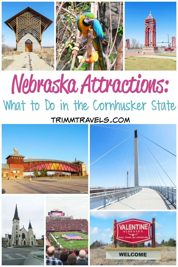 Nebraska is a great state for a road trip. With a town called Valentine and a bridge named Bob, this list of Nebraska attractions is delightful! #nebraska #omaha #lincoln #valentine #usa #attractions #roadtrip #midwest #cornhusker #destinations #travel