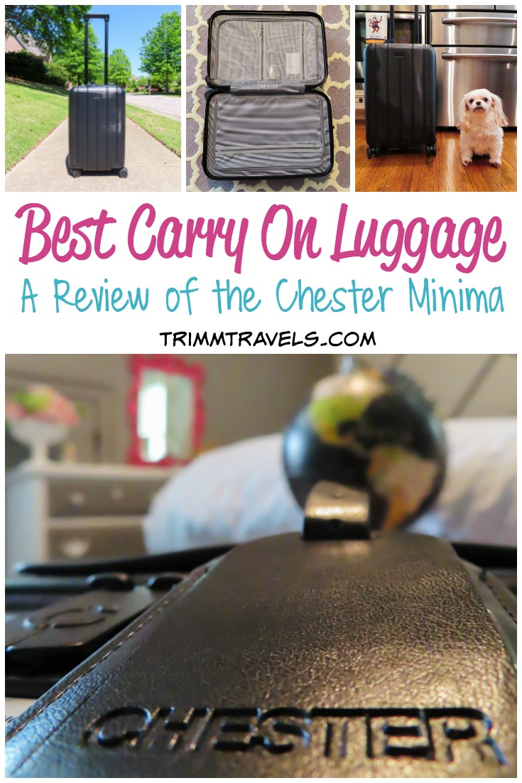 I know exactly how hard it is to find the perfect carryon. If you like spinners, check out the best carry on luggage in this review of the Chester Minima! #carryon #luggage #chester #spinner #travel