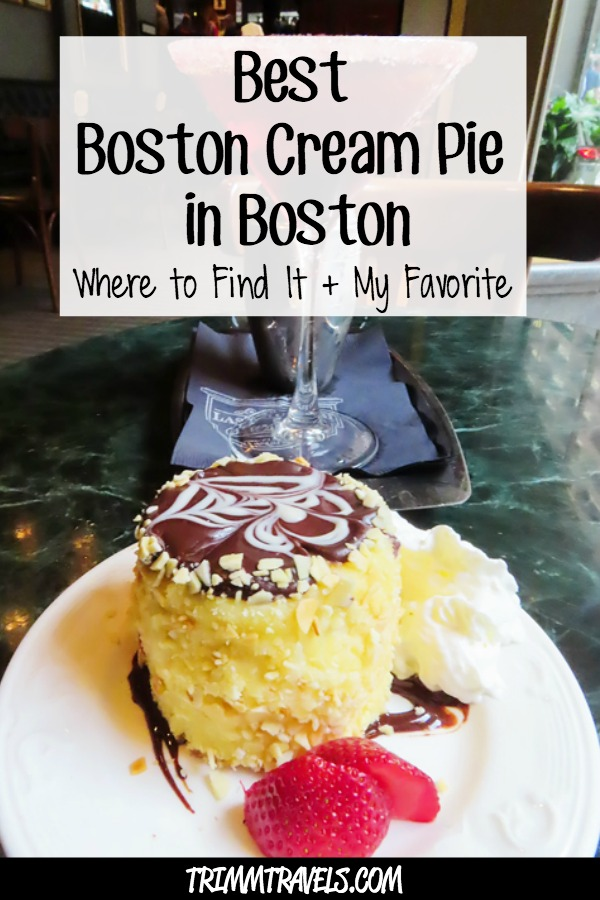 Everyone knows the popular dessert Boston Cream Pie. Did you know it originated in Boston too? Here's where to find the best Boston Cream Pie in Boston! #bostoncreampie #boston #food #dessert #restaurants #foodie #postres #travel #usa #destinations