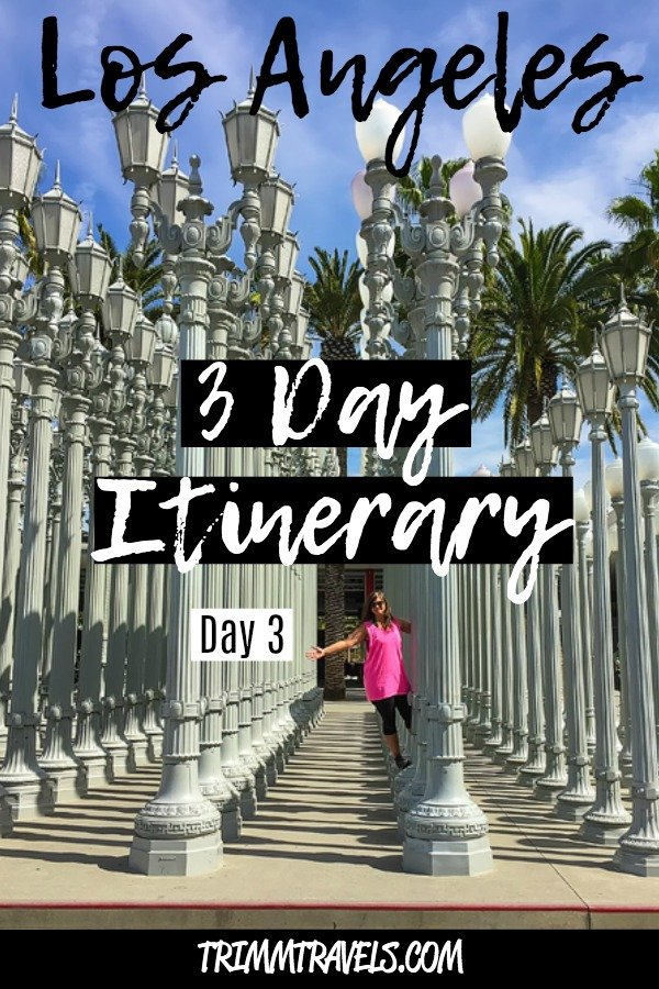This day 3 of my easy Los Angeles 3 day itinerary promises to wrap up your vacation with the utmost fun at LACMA, the Hollywood Sign, and Santa Monica Pier! #la #losangeles #california #hollywood #travel #itinerary #traveltips #usa #destinations