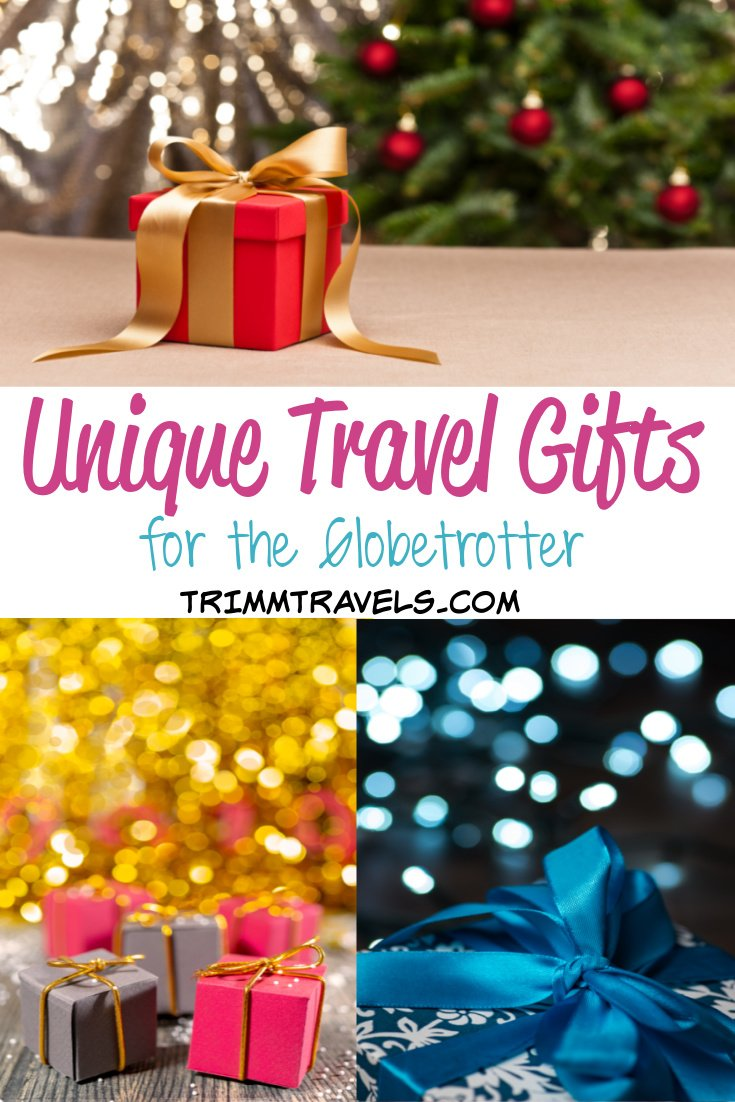 Thinking of the perfect gift year after year is quite difficult. This list of unique travel gifts will help solve that problem while delighting your traveler at the same time! If you are more of a traditionalist, there are classic choices along with gift card options too. #unique #travel #gifts #holiday #giftguide #christmas #presents #globetrotter