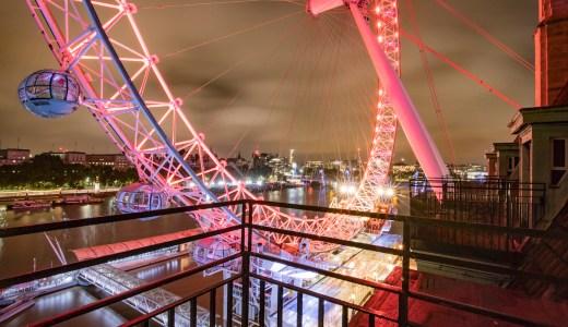 世界遺産ビッグベンとロンドンアイをホテルから眺める ロンドン・カウンティ・ホール・マリオット