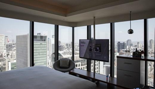 W大阪のスペクタキュラールームから大阪城が見えた