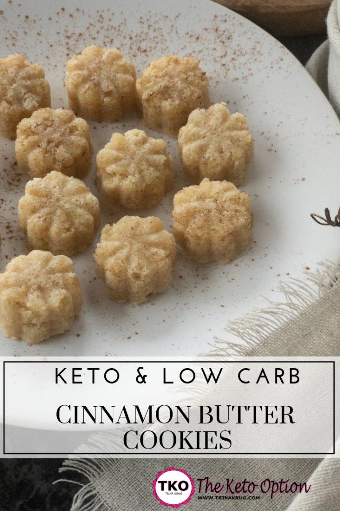 Keto Cinnamon Butter Cookies