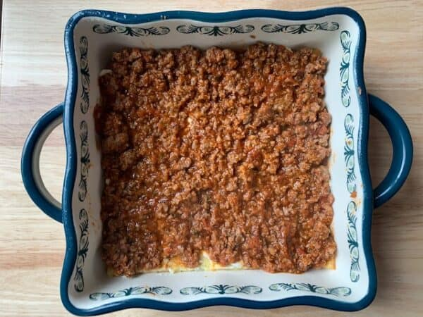 Keto Meat Lasagna Layer 3