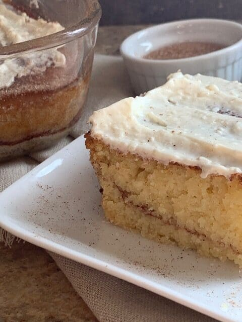 Keto Cinnamon coffee cake