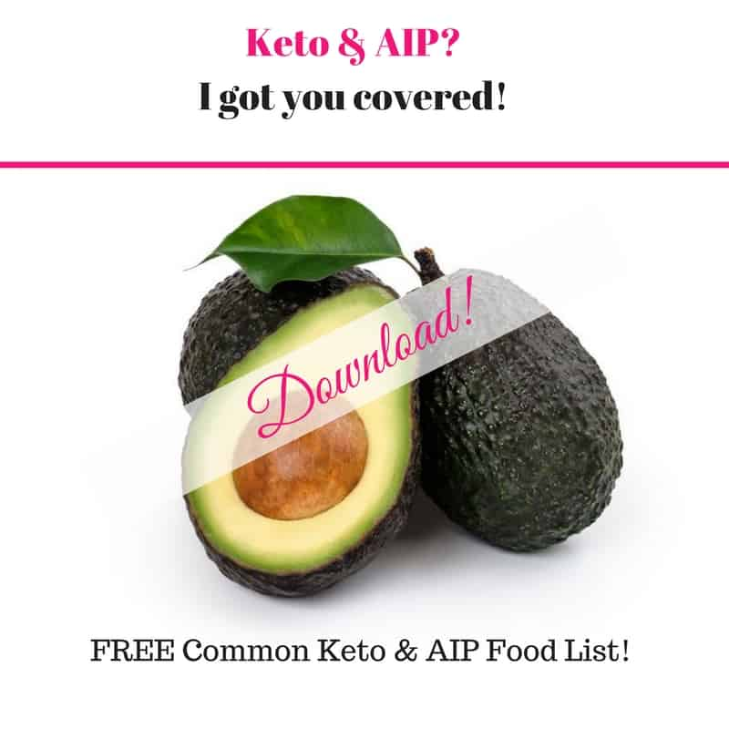 Common Keto & AIP Foods Cheat Sheet