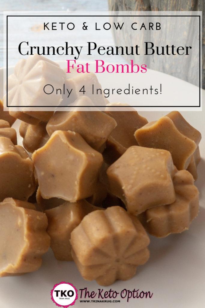crunchy peanut butter fat bombs